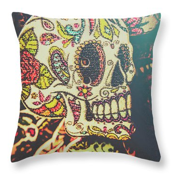 Ghoul Of Gothic Glam  Throw Pillow