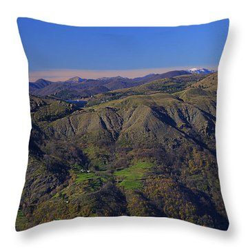 Throw Pillow featuring the photograph Giacopiane Lake And Aveto Park Mountains  by Enrico Pelos