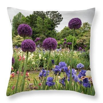 Giant Allium Guards Throw Pillow