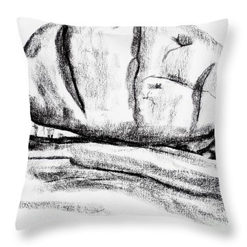 Giant Baked Potato At Elephant Rocks State Park Throw Pillow by Kip DeVore