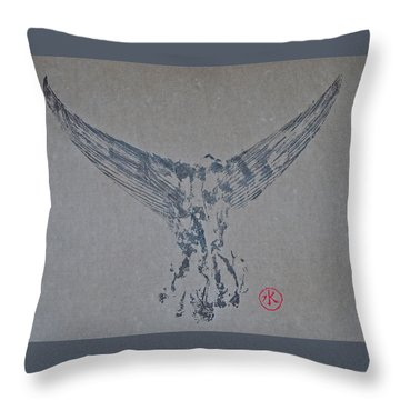 Giant Bluefin Tuna Tail On Rice Paper Throw Pillow