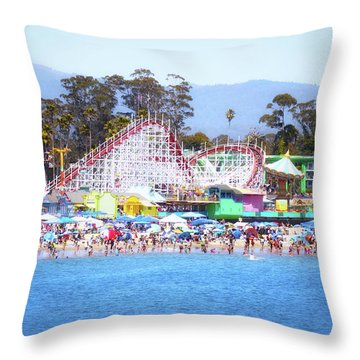 Life Is Like A Rollercoaster Throw Pillow