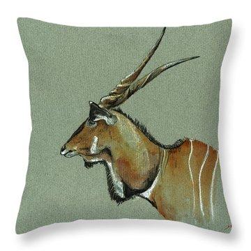Giant Eland Throw Pillow