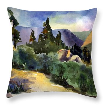 Giant Gap From Iron Point Throw Pillow