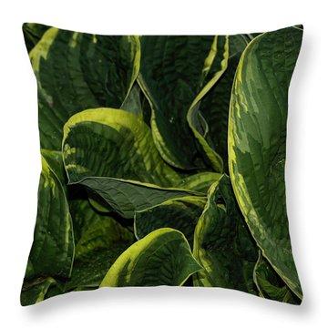 Giant Hosta Closeup Throw Pillow