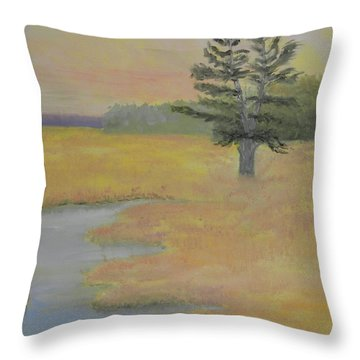 Giant In The Marsh Throw Pillow