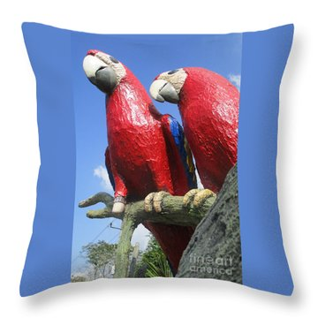 Giant Macaws Throw Pillow by Randall Weidner