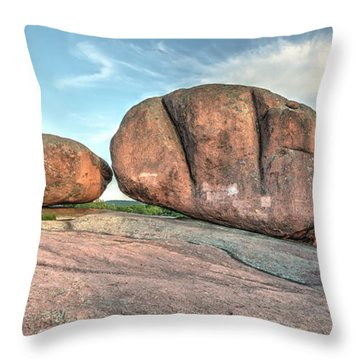 Throw Pillow featuring the photograph Giant Potatoes by Harold Rau
