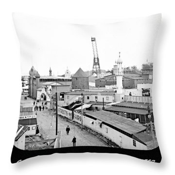 Throw Pillow featuring the photograph Giant See Saw Tennessee Centennial Exposition 1897 by A Gurmankin