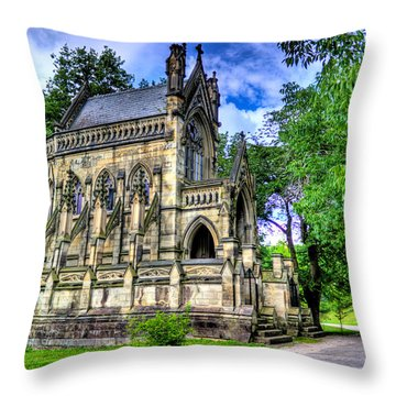 Giant Spring Grove Mausoleum Throw Pillow by Jonny D