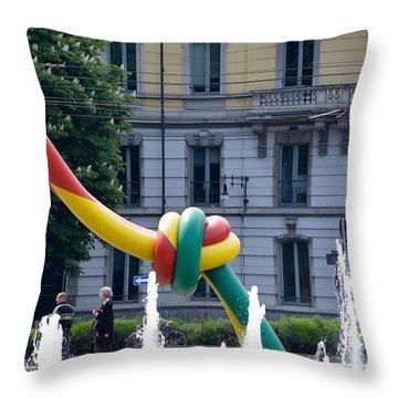 Giant Thread In Milan Throw Pillow