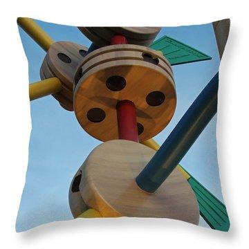 Giant Tinker Toys Throw Pillow
