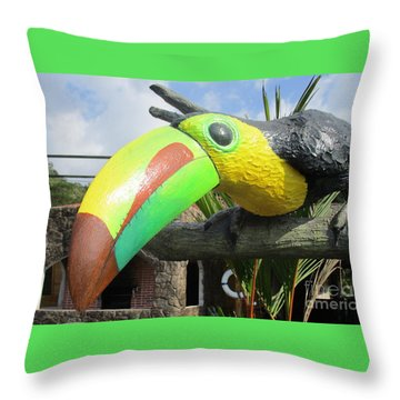 Giant Toucan Throw Pillow by Randall Weidner