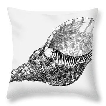 Giant Triton Shell Throw Pillow