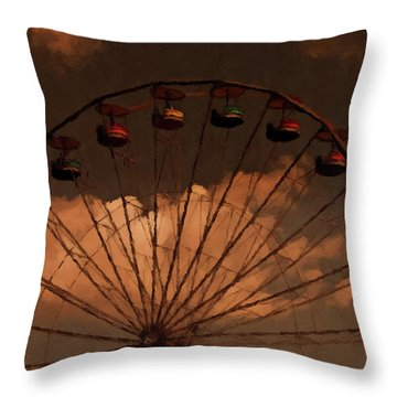 Throw Pillow featuring the photograph Giant Wheel by David Dehner