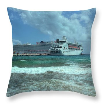 Throw Pillow featuring the photograph Giants Of The Sea by John M Bailey