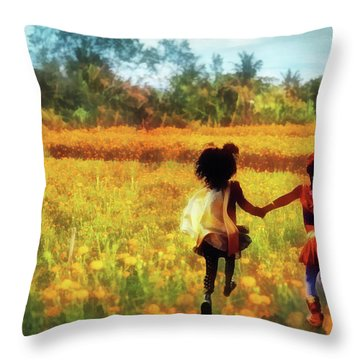 Gia's Field Of Dreams Throw Pillow