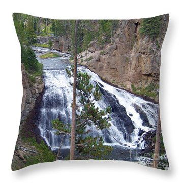 Throw Pillow featuring the photograph Gibbon Falls by Charles Robinson