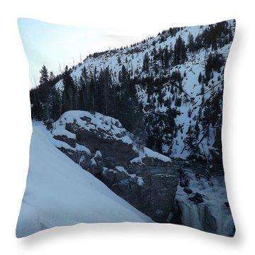 Gibon Falls In Winter 2 Throw Pillow