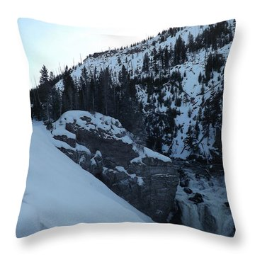 Gibon Falls In Winter 2 Throw Pillow