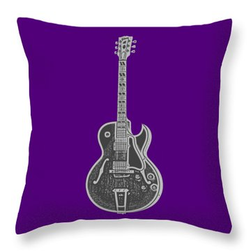 Gibson Es-175 Electric Guitar Tee Throw Pillow by Edward Fielding