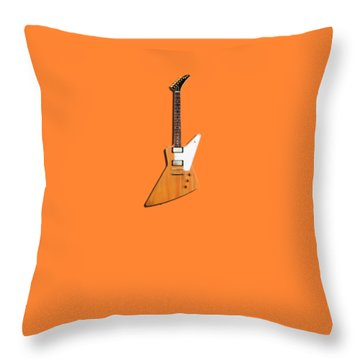 Gibson Explorer 1958 Throw Pillow by Mark Rogan
