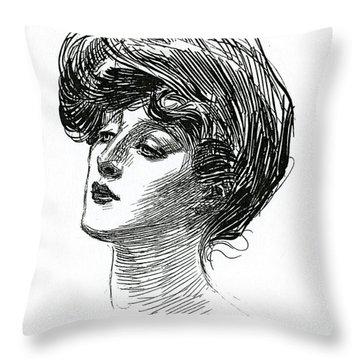 Gibson Girl 1902 Throw Pillow