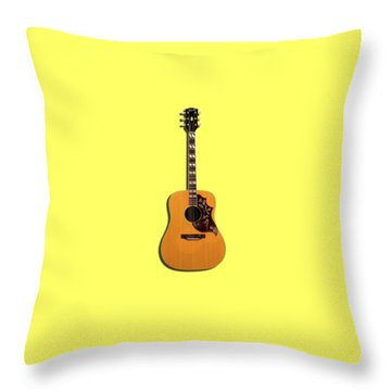 Gibson Hummingbird 1968 Throw Pillow by Mark Rogan