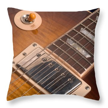 Gibson Les Paul Guitar By Gene Martin Throw Pillow
