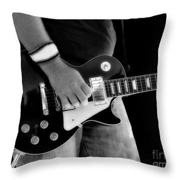 Gibson Les Paul Guitar  Throw Pillow by Randy Steele