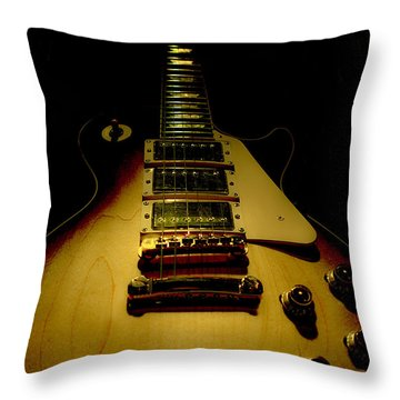 Guitar Triple Pickups Spotlight Series Throw Pillow