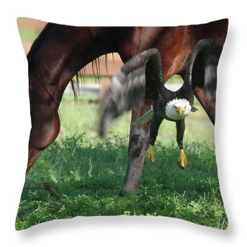 Giddy Up. Throw Pillow