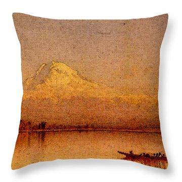 Gifford Sanford Robinson Mount Rainier Bay Of Tacoma Throw Pillow