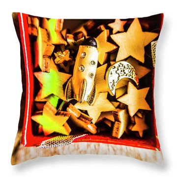 Gift Boxes And Astronomy Toys Throw Pillow