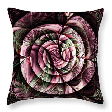 Gift For A Lady Abstract Throw Pillow by Georgiana Romanovna