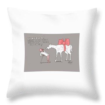 Gift Horse Throw Pillow