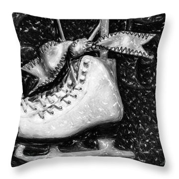 Gift Of Ice Skating Throw Pillow