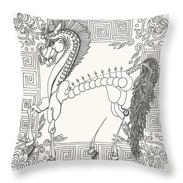 Gift Of The Greeks Throw Pillow by Melinda Dare Benfield