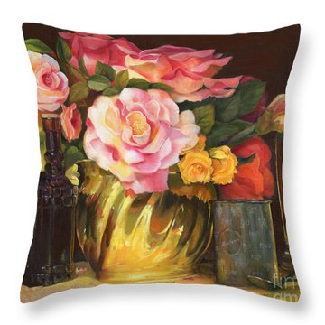 Throw Pillow featuring the painting Gift Of Time by Marlene Book