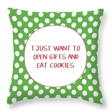 Gifts And Cookies- Art By Linda Woods Throw Pillow