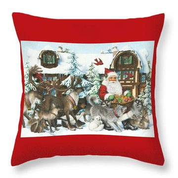 Gifts For All Throw Pillow