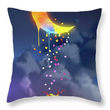 Gifts From The Moon Throw Pillow