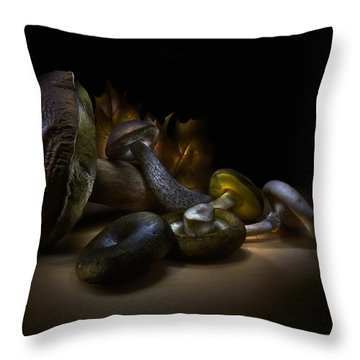 Throw Pillow featuring the photograph Gifts Of September by Alexey Kljatov