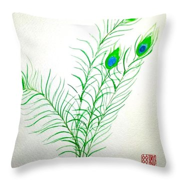 Gifts Of The Peacock Throw Pillow