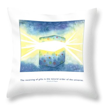 Throw Pillow featuring the painting Gifts Of The Universe by Kristen Fox