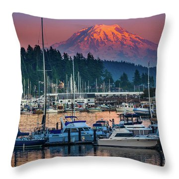 Gig Harbor Dusk Throw Pillow