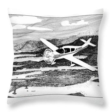 Gig Harbor Flyover Throw Pillow by Jack Pumphrey