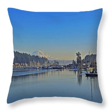 Gig Harbor, Wa Throw Pillow by Jack Moskovita