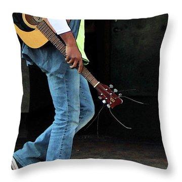 Throw Pillow featuring the photograph Gig Less by Joe Jake Pratt