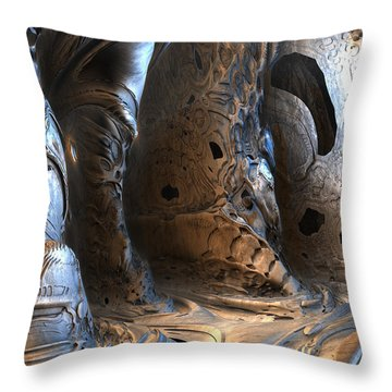 Gigeresque Natural Cave Throw Pillow by Hal Tenny